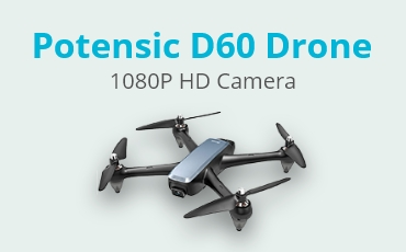 Potensic D60, GPS Drone with Camera, 1080P HD FPV 110° FOV Quadcopter
